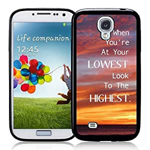 Cool Painting Galaxy S4 Case - S IV Case - Shawnex Cute Quote Look To The Highest Samsung Galaxy i9500 Case Snap On Case