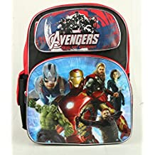 """AVENGERS AGE OF ULTRON 16"""" LARGE BACKPACK RED COLOR FOR KIDS BOYS"""