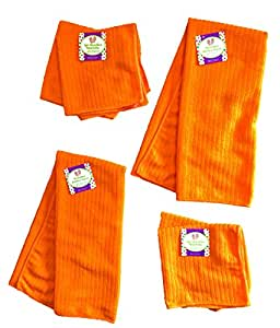 Amazon Com Set Of 6 Orange Microfiber Kitchen Towels 25