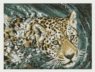 Janlynn Jaguar Swimming Counted Cross Stitch Kit