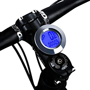 Bike Computer, Bicycle Odometer Speedometer For Mountain Road Riding Automatic Wake-up Wireless Waterproof Cycle Computer - Tracking Riding Speed and Distance,Cycling Accessories