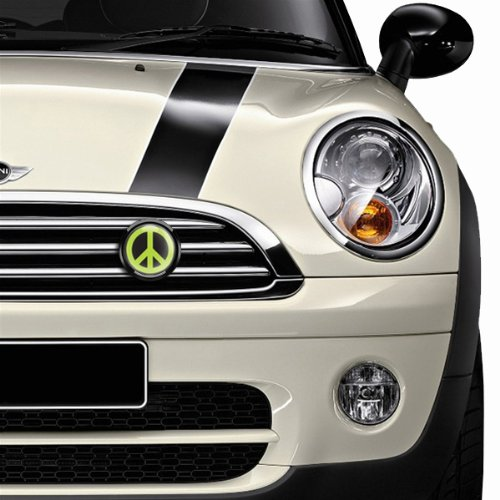 GoBadges BKC004 Peace Green Magnetic Black Grill Badge Holder Combo//Universal Fit//No Tools Required//Weather-Proof and Car-Wash Safe