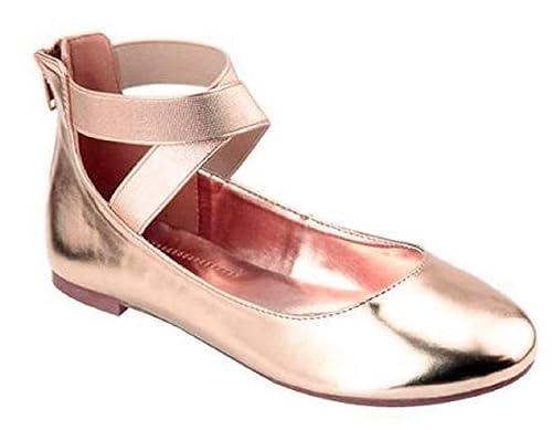 Amazoncom Shoes 18 Womens Ballerina Ballet Flat Shoes 1801 Rose