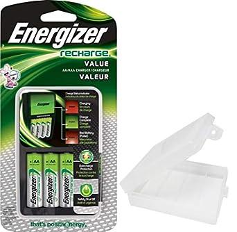 Amazon.com: Energizer - Cargador de pilas AA y AAA (incluye ...