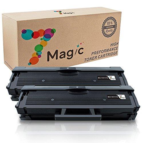 111S MLT-111S MLT-D111S 111S MLT-D111L 7Magic Compatible High Yield Toner Cartridge for Samsung Xpress SL-M2020 M2020W M2070 M2070W M2070FW M2070F M2022 M2022W (2-Black) (111 Black Toner Cartridge)