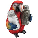 Tropical-Parrot-Glass-Salt-and-Pepper-Shaker-Set-with-Holder-Figurine-for-Beach-Bar-or-Restaurant-Nautical-Kitchen-Table-Decor-or-Decorative-Macaw-and-Bird-Sculpture-Spice-Rack-Gifts