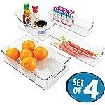 'mDesign Kitchen, Pantry, Refrigerator, Freezer Storage Organizer Bins - Set of 4, Clear' from the web at 'https://images-na.ssl-images-amazon.com/images/I/517HJsgk0iL._AC_SR150,150_.jpg'