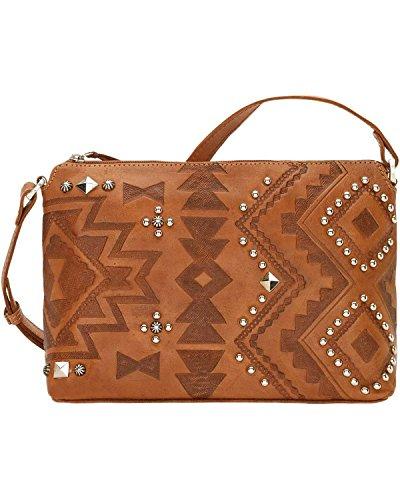 Cross Handbag Heart West Keychain Bundle Tan American Light Body Leather Purse Nomad FpagZZqC