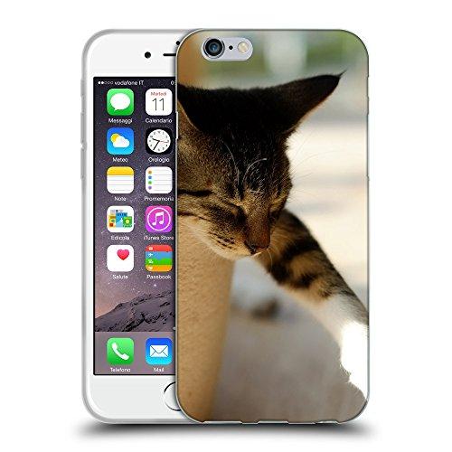 """Just Phone Cases Coque de Protection TPU Silicone Case pour // V00004230 dormir chat colle la patte // Apple iPhone 6 4.7"""""""