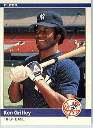 83d323859b 1984 Fleer #126 Ken Griffey New York Yankees Baseball Card - Mint Condition  - Shipped In A Protective Screwdown Display Case! at Amazon's Sports ...