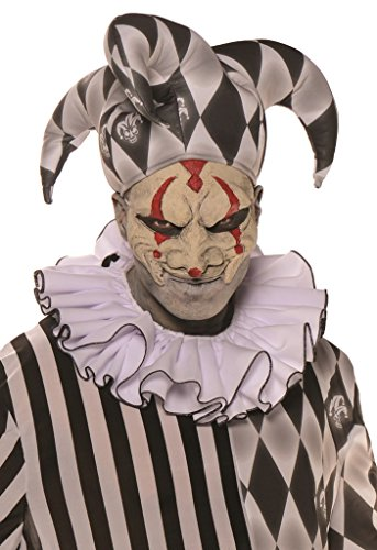 Clown Costume Classic Horror (Evil Harlequin Jester Adult)