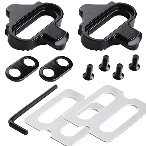 Zipefy Mountain Bike Pedals Cleats Set for SHIMANO SPD ()
