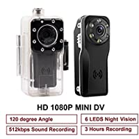 Mini Spy Camera, PANNOVO 10M Waterproof Sport Mini Hidden 1080P Camera DVR Motion detection Camera With Infrared Night Vision