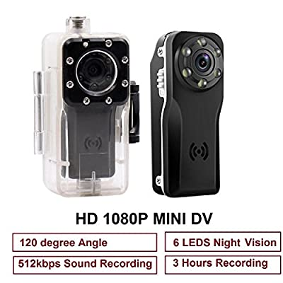 Mini Spy Camera, PANNOVO 10M Waterproof Sport Mini Hidden 1080P Camera DVR Motion detection Camera With Infrared Night Vision from PANNOVO