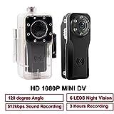 Mini Spy Camera, PANNOVO 10M Waterproof Sport Mini Hidden 1080P Camera DVR Motion detection Camera With Infrared Night Vision