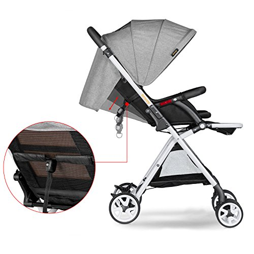 Besrey Lightweight Foldable Baby Stroller - Gray by besrey (Image #2)