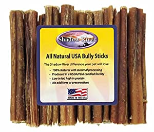 25 Pack 6 Inch Thick All Natural Beef Bully Sticks For Dogs by Shadow River cheap