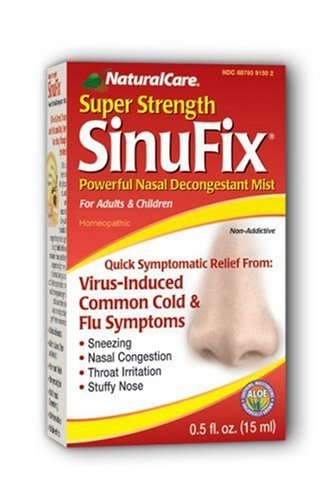 NaturalCare Super Strength SinuFix Nasal Decongestant Mist, .5-Ounce Bottles (Pack of 2)