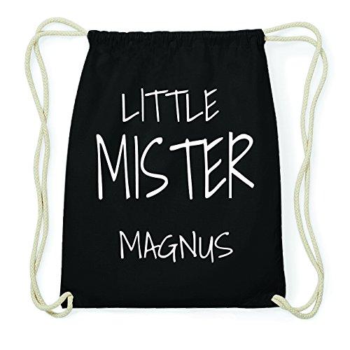 JOllify MAGNUS Hipster Turnbeutel Tasche Rucksack aus Baumwolle - Farbe: schwarz Design: Little Mister YgI2Ycwz