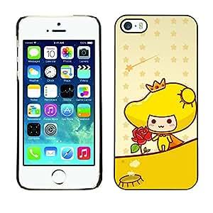 TopCaseStore / la caja del caucho duro de la cubierta de protección de la piel - Cute Princess Rose - Apple iPhone 5 / 5S
