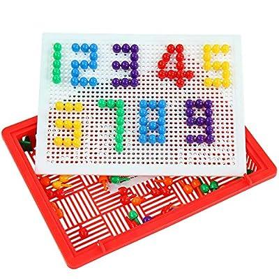 Infantastic - Juego para crear figuras y mosaicos (incluye 150 piezas y maletín): Juguetes y juegos