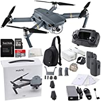 DJI Mavic Pro Collapsible Quadcopter Drone Virtual Reality VR FPV + DJI Sling Bag for Mavic Pro and Goggles POV Experience Essentials Bundle