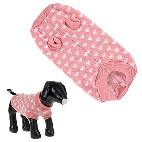 Puppy Clothes,Haoricu Cute Dog Cat Pet Clothes Vest Hoodies Costume Apparel Pink Dog Sweater Lovely (2XL) (L)