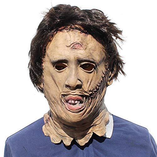 (Movie Texas Chainsaw Massacre Leatherface Masks Scary The Cosplay Halloween Costume Props Party - Party)