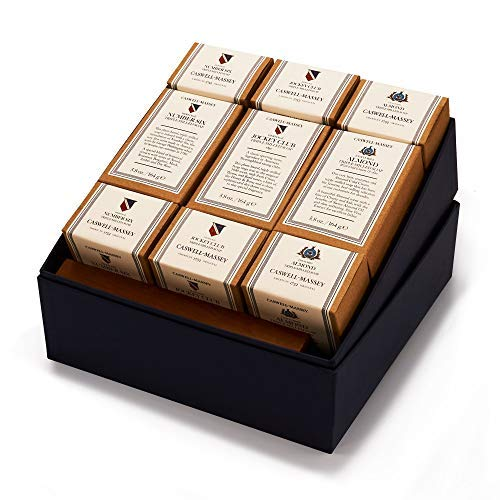 (Caswell-Massey Triple Milled Presidential Luxury Bath Soap - Year of Soap Boxed Set – 3 Almond, 3 Number 6, and 3 Jockey Club - 5.8 Ounce Each, 12 Bars)