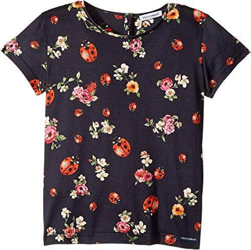 Dolce & Gabbana Kids Baby Girl's Back To School Jersey T-Shirt (Toddler/Little Kids) Coccinelle 6 (Little Kids) by Dolce & Gabbana