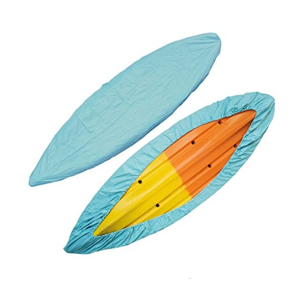 "Universal Waterproof Sun Protector Trailerable Kayak Boat Canoe Cover Gray, /"""