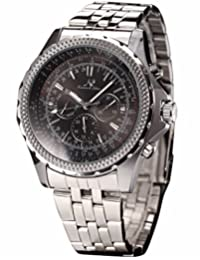 KS Royal Carving Day Date 24Hours Automatic Mechanical Men's Stainless Steel Band Wrist Watch KS140