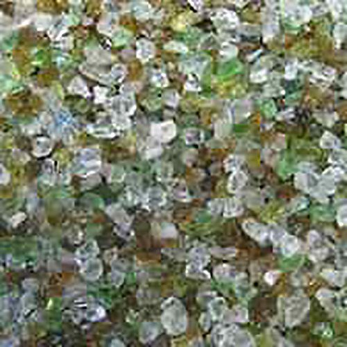 Safe & Non-Toxic 4 Pound Bag of Clear Gravel & Pebbles Decor Made of Genuine 100% Recycled Glass for Freshwater & Saltwater Aquarium w/ Eco Friendly Shiny Non Sharp Style (100 Floors Halloween 4)