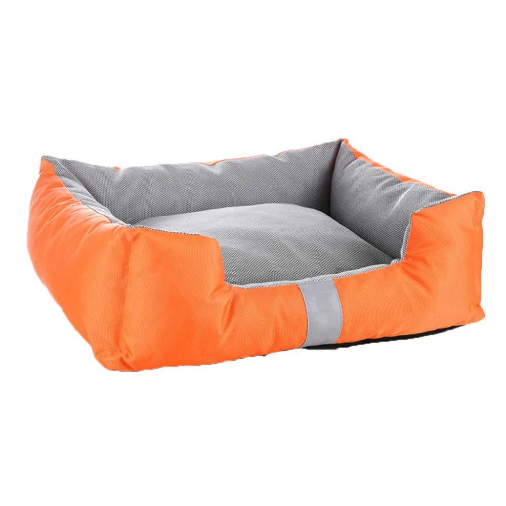 orange 6050cm orange 6050cm Dog's Bed Premium Orthopedic Memory Foam Waterproof Dog Beds Many Colours Sizes Eases Pet Arthritis Hip Dysplasia Pain,orange-60  50cm
