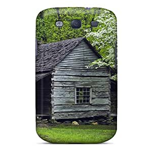 Galaxy S3 Case Cover - Slim Fit Tpu Protector Shock Absorbent Case (house Wood Tree)