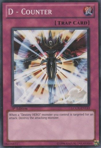 Yu-Gi-Oh! - D - Counter (LCGX-EN153) - Legendary Collection 2 - 1st Edition - Common (Best Counter Trap Cards)