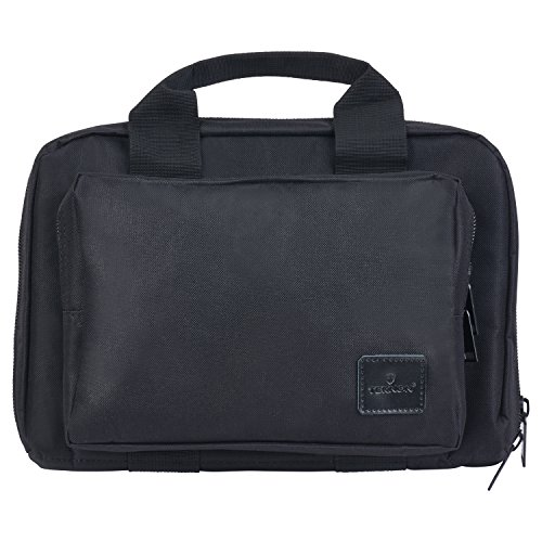 Teknon Water Resistant Dual Gun Bag/Case - Compact Soft Padded Range Bag for - Case And Wesson Smith Carrying