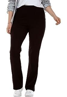 13c20cd45f48e Amazon.com  Woman Within Plus Size Tall Stretch Cotton Side-Stripe ...