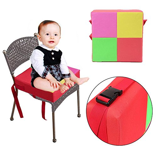 Amazingdeal Chair Booster Cushion Children Heighten Chair Cover Pad Baby Kids Dining Seat Soft Oxford Cushion (Floral Car Toddler Seat Cover)
