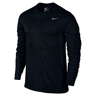 NIKE Men's Dry Training Top Black/Matte Silver Size Small