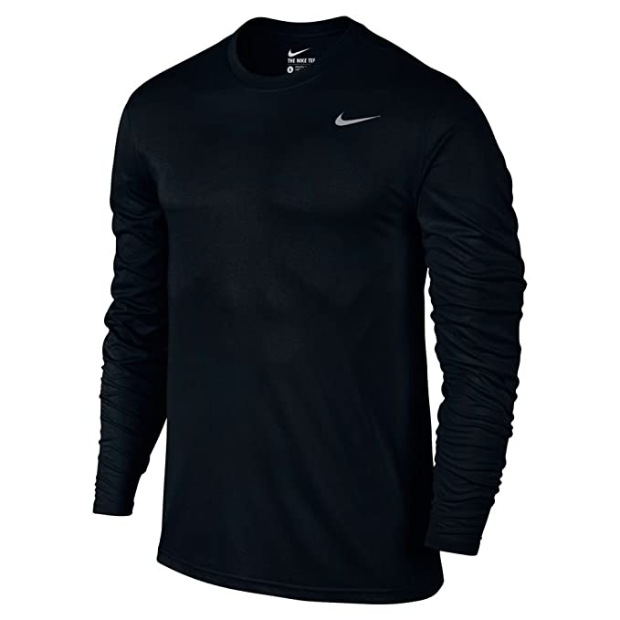 83195e1bb Image Unavailable. Image not available for. Color: Nike Men's Dry Training  Top Black/Matte Silver Size Small