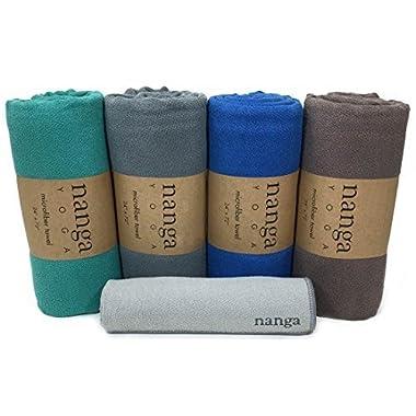 Hot Yoga Towel – Mat Sized, Non Slip, and Absorbent for Bikram, Ashtanga, Hatha Yoga (Blue)
