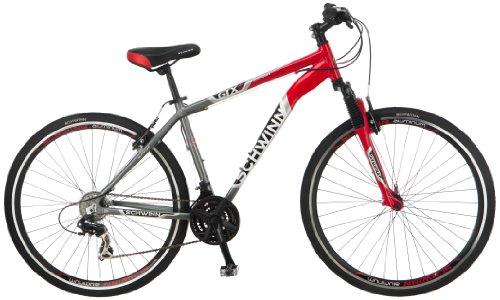 Schwinn Men's GTX-2 700C Dual Sport Bicycle, Red/Silver, 18-