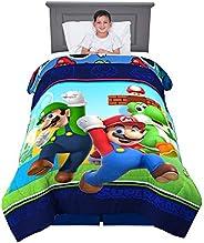 "Franco Kids Bedding Soft Comforter, Twin Size 64"" x 86"", Super Mario"