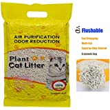 Ultra Clumping Cat Litter, Tofu Cat Litter Fast-Clumping, Multi-Cat Litter Flushable Litter Unscented and No Dust Pellets (6 lbs, 1 Pack)