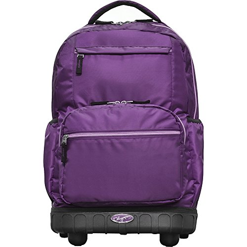 "Olympia USA Melody 19"" Rolling Laptop Backpack (Purple)"