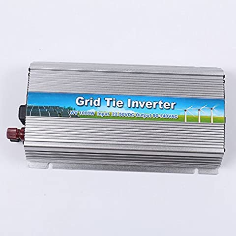 1000W High Power In-buillding Use Solar Grid-tie Micro Power Inverter Converter Pure Sine Wave Inverter Charger (Input 22-50VDC, Output 90-140VAC)
