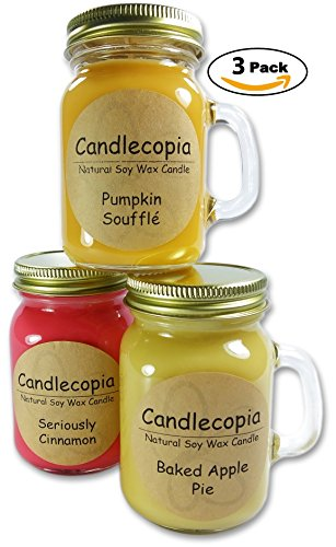 Candlecopia-Scented-Soy-Candles-Mini-Mug-with-Gold-Lid-3-x-5-Ounce-Mugs
