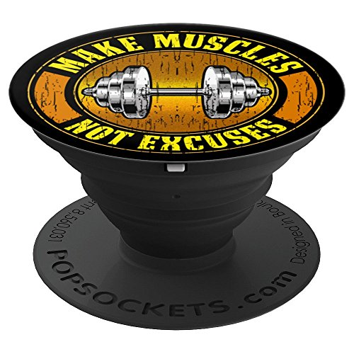 Bodybuilding Personal Trainer Gifts Make Muscles Not Excuses - PopSockets Grip and Stand for Phones and Tablets (Best Tablet For Personal Trainers)