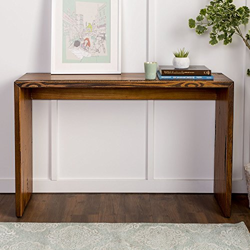 WE Furniture Reclaimed Wood Entry Table in Amber - 48